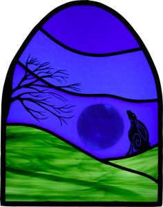 Firewolf Glass Stained Glass