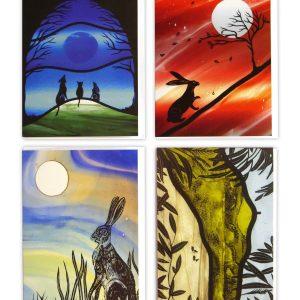 Firewolf Glass Cards