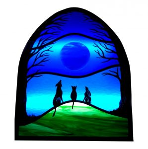 Firewolf Glass Moonlight Gathering