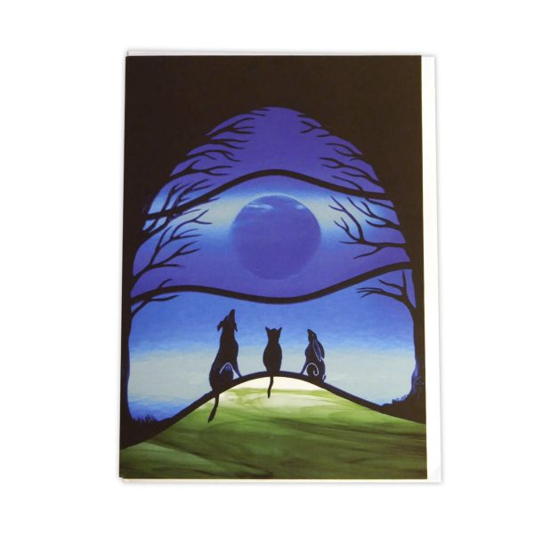 Firewolf Glass Moonlight Gathering Card