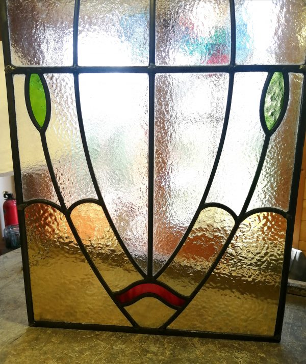 art Deco Stained Glass base detail