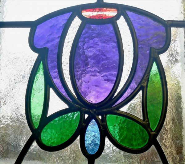 Art Deco Stained Glass top detail