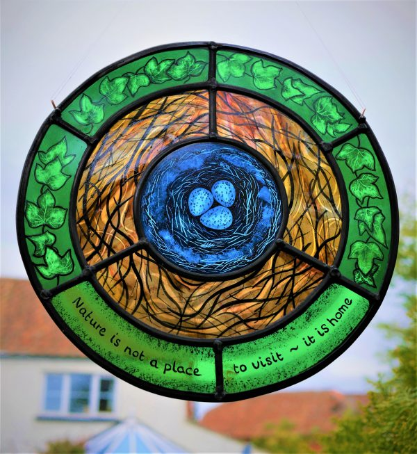 Natures nest stained glass scaled